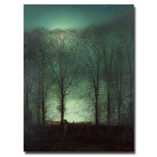 - Figure in the Moonlight by John Atkinson Grimshaw, 18x24-Inch Canvas Wall Art