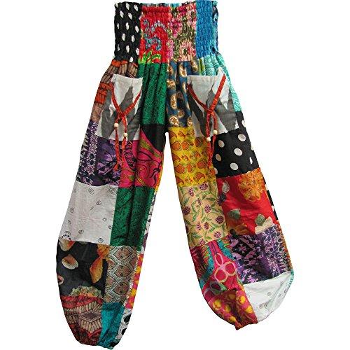 Yoga Trendz Gauze Bohemian Gypsy Patchwork Harem Pants (Multicolor (Patchwork Hippie Clothes)