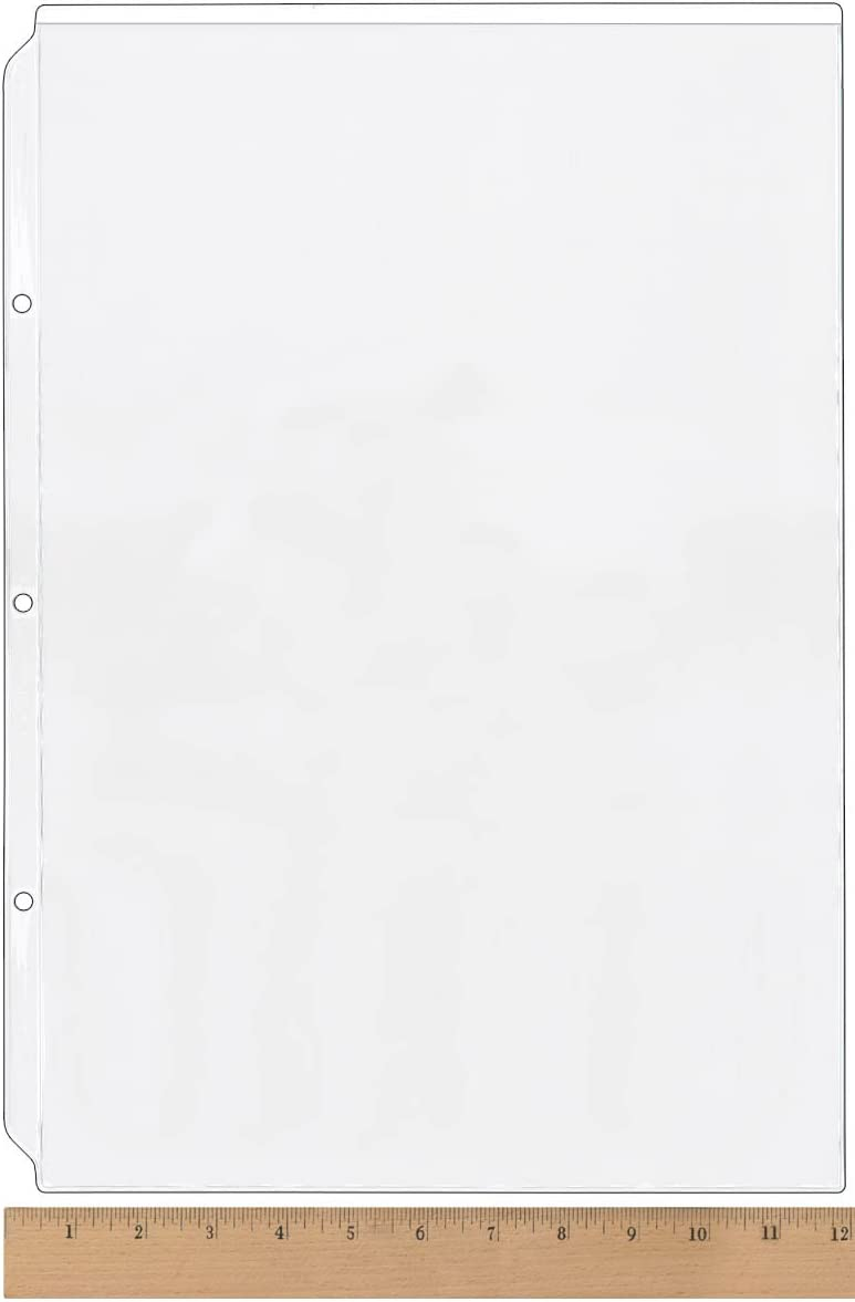 StoreSMART 100-pack RPT1262-100 Clear Plastic Sheet Protector 11 x 17 for 3-Ring Binders