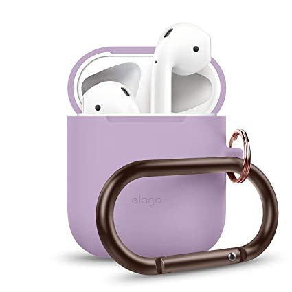 separation shoes c61e5 eccd8 elago AirPods Hang Case [Lavender] - [Compatible with Apple AirPods 1 & 2;  Front LED Not Visible][Supports Wireless Charging][Extra Protection] [Added  ...