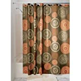 iDesign Bazaar Fabric Shower Curtain for Master, Guest, Kids', College Dorm Bathroom, 72' x 72', Brown