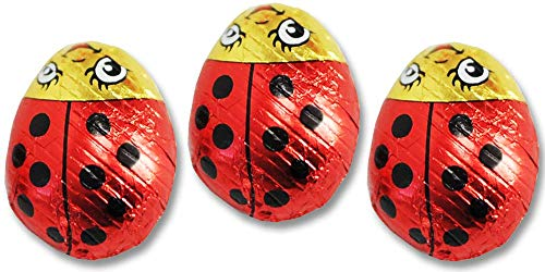 Madelaine Solid Premium Milk Chocolate Lady Bugs - Red Candy Party Favors (Red & Black) (1/2 LB)