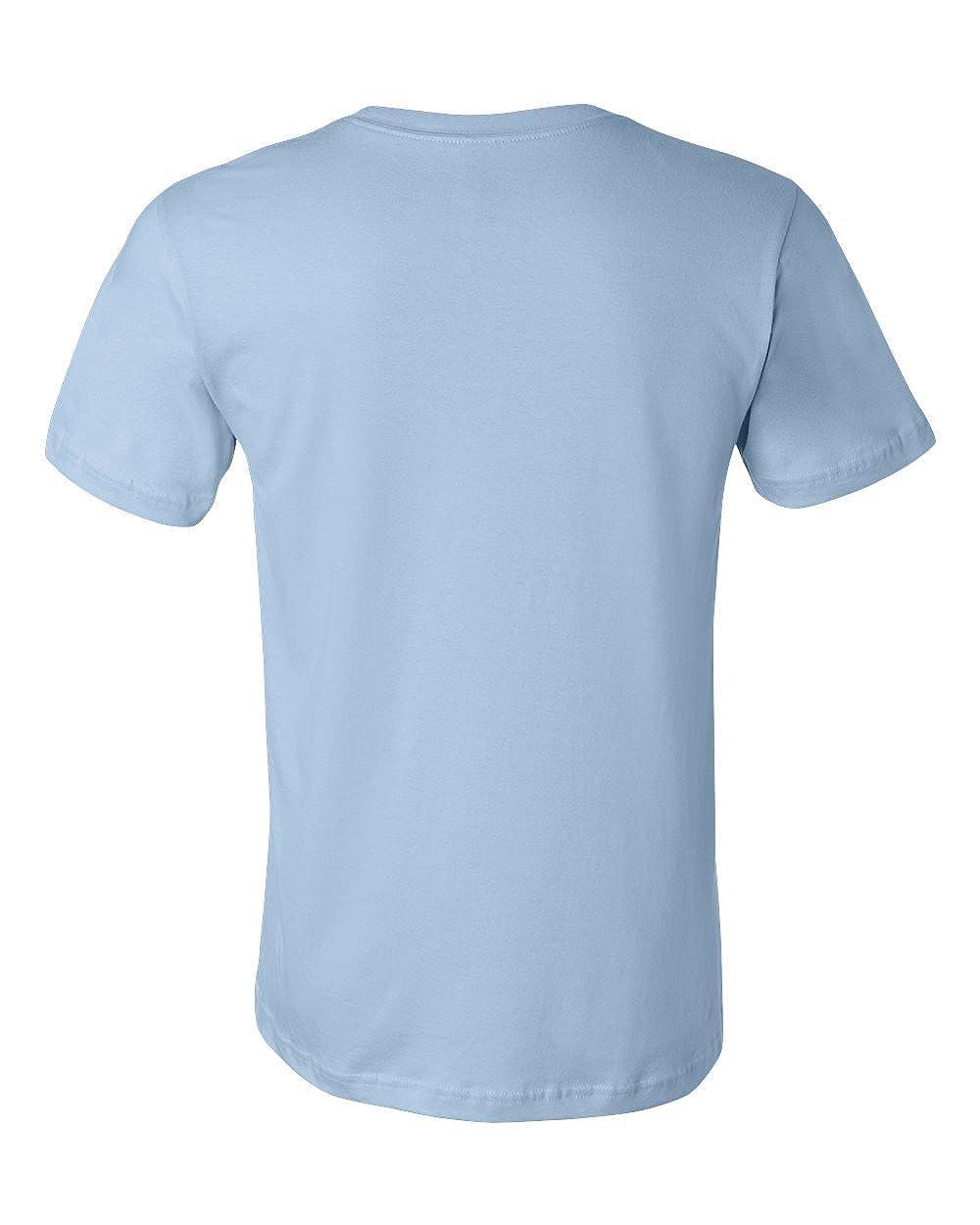 Bella Canvas Mens Taped Shoulders Crewneck T-Shirt Light Blue XXX-Large