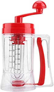 Wolfgo Batter Mixer-Hand-held Manual Pancake Cupcake Batter Mixer Dispenser Blender Machine Baking Tool