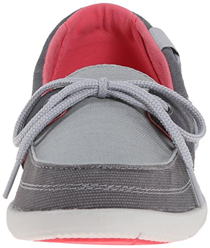 W Graphite Women's Crocs Shoe Light Grey Boat Walu 6azFwEFqC