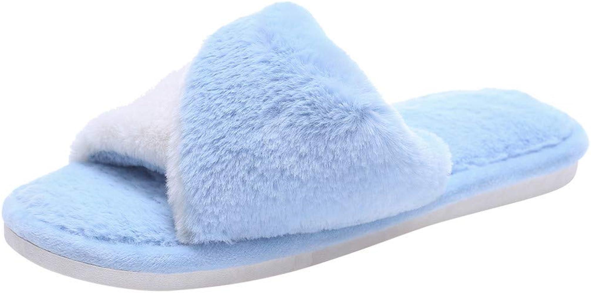 BaZhaHei-Zapatillas Zapatillas de Mujer casa de Color Liso para ...