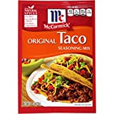McCormick Original Taco Seasoning Mix, 1 oz. (Case of 24), Make Every Night an Easy and Awesome Taco Night, No MSG or Artificial Flavors, Perfect For a Fun-Filled Family Fiesta