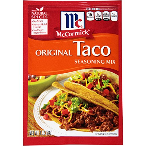 McCormick Original Taco Seasoning Mix, 1 oz. (Case of 24), Make Every Night an Easy and Awesome Taco Night, No MSG or Artificial Flavors, Perfect For a Fun-Filled Family Fiesta Mccormick Taco Seasoning