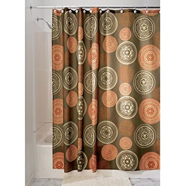 InterDesign Bazaar Fabric Shower Curtain - 72  x 72 , Spice Brown