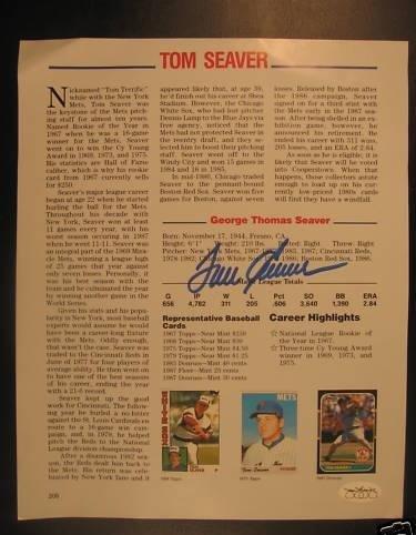 Tom Seaver Signed Baseball - with x11 Inscription - JSA Certified - Autographed MLB Photos - Tom Seaver Photograph
