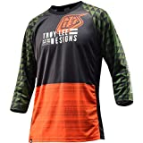 Troy Lee Designs Ruckus Jersey - 3/4 Sleeve - Men's Formation Army Green, XXL