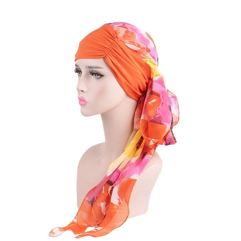 COMVIP Bonnet Femme Brillant Indien Turban Pliss/é Musulman Mode