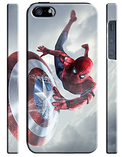 Captain America: Civil War & Characters for Iphone 5 5s SE Hard Case Cover (war32) (Case Iphone 5 Marvel Phone)