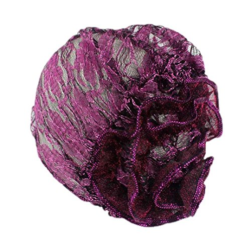 Elevin(TM)Women Summer Indian Stretch Turban Hat Ruffle Cancer Chemo Cap Hair Scarf Headwrap (C) Summer Patch Cap