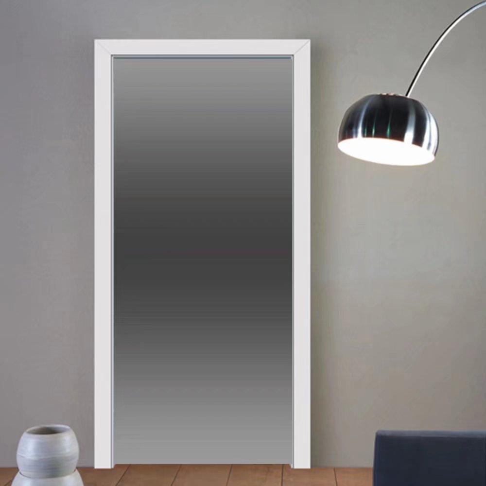 Gzhihine custom made 3d door stickers Ombre Smoke Fog Mist Theme Inspired Grey Color Modern Design Room Digital Print Black Gray For Room Decor 30x79