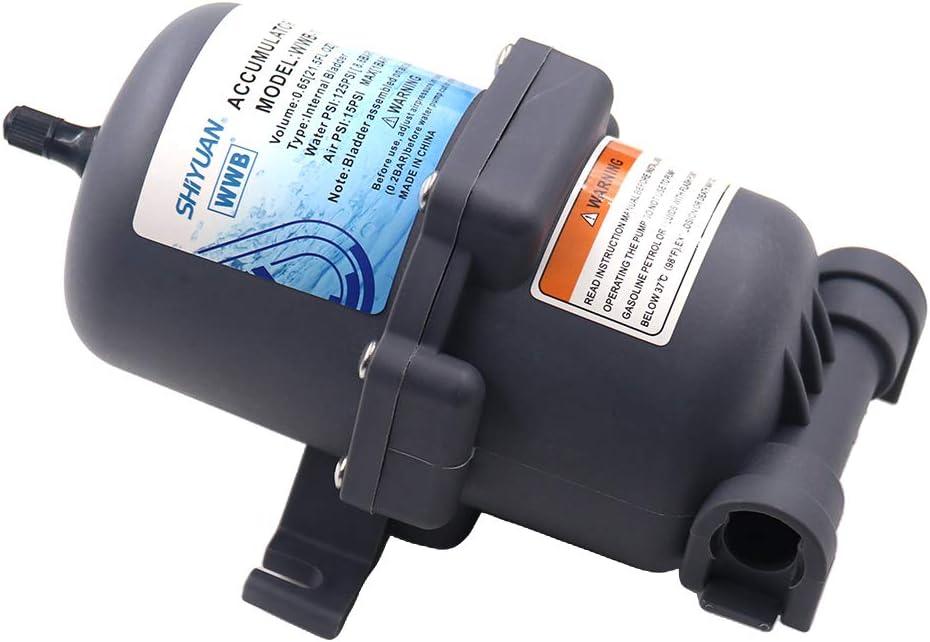 gazechimp Accumulator Tank Water Pump Flow Control Systems Bladder-Type 125 psi 23.5 OZ