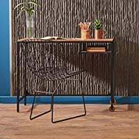 Wood Handmade Work Table Vintage Rustic Wooden Home Office Desk Working Study Computer Laptop Writing Workstaion