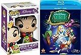 Disney Alice in Wonderland Blu Ray + DVD 60th Anniversary Edition & Funko Pop! Disney Alice In Wonderland Queen of Hearts #234