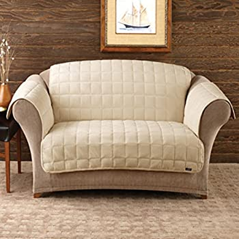 Amazoncom Sure Fit Deluxe Pet Cover Sofa Slipcover Ivory