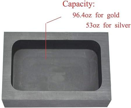 YU-NIYUT DIY Gold Silver Ingot Mold Graphite Crucible Melting Gold Silver Nonferrous Mold for DIY Jewelry Craft Making