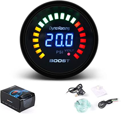 Liudan Racing Turbo Boost Gauge Meter LED Scale Digital Display Car Modification 12 V Universal