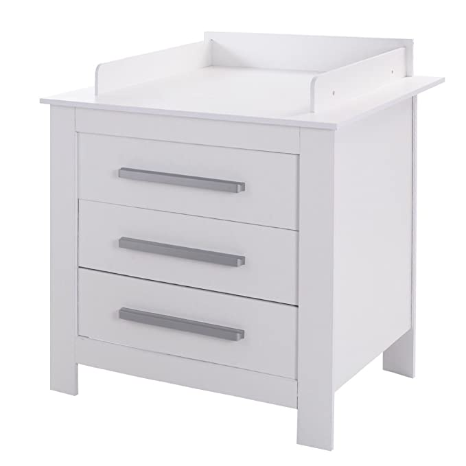 5901580c3d14 Amazon.com: Durable White Baby Changing Table Dresser with 3 Drawers:  Kitchen & Dining