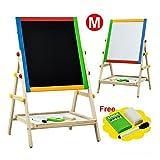 white erase board easel - 2 In 1 Kids Fun Standing Easel Erase Drowing Board Chalk Board Adjustable Height