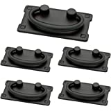 Franklin Brass Flat Black Horizontal Bail Pull, Cabinet Handles and Drawer Pulls for Kitchen Cabinets and Dresser Drawers, 3