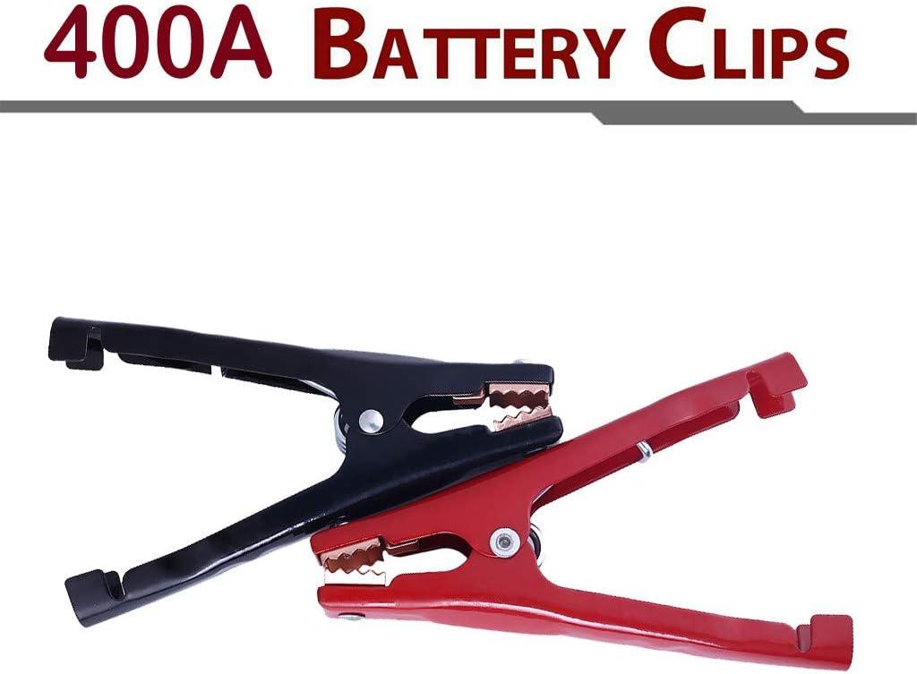 wyxhkj 2 pezzi 400A battery clip booster test morsetti per batteria auto cavo Starter RD//BK