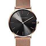 Hannah Martin Unisex Japan Quartz Wrist Watches for Loves' Gifts (Rose Gold)