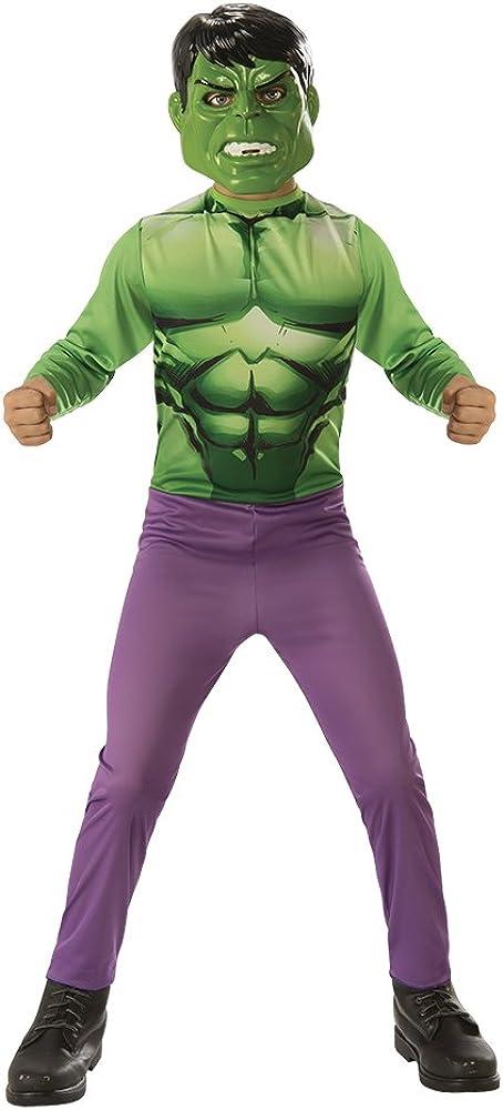 Avengers - Disfraz de Hulk infantil, talla S (Rubie'S 640922-S)