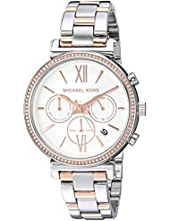 Michael Kors Womens Sofie Analog Display Analog Quartz Rose Gold Watch MK6558