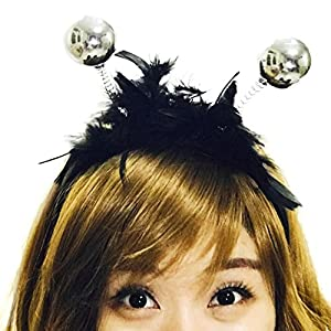 Funny Party Carnival Horn Headband :H11 (Disco Silver)