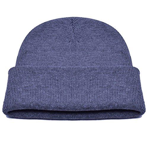 PZLE Winter Warm Letter Hat Caps Grey Beanie Men Watch Cap Beanie Dark Grey (Sailor Outfits For Men)