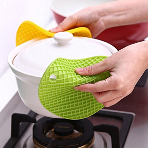 S&M TREADE-Honeycomb Silicone Round Table Heat Resistant Mat Coaster Cushion Placemat 6L (0.393 Inch Corner)