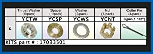 Solas 17033501 YC-PKT Propeller Kit for Yamaha 25-60 HP