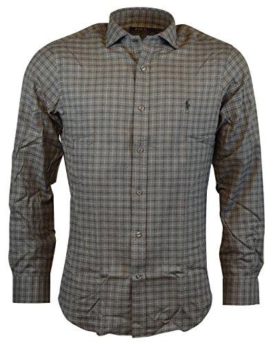 Polo Ralph Lauren Mens Classic Fit Soft Cotton Button-Front Shirt - London Grey - L