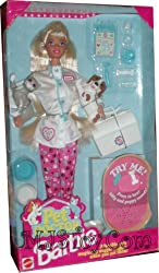 1996 Barbie Pet Doctor With Dogs & Cat (Adorable Pets Magically Wiggle-waggle When You Pet Them)