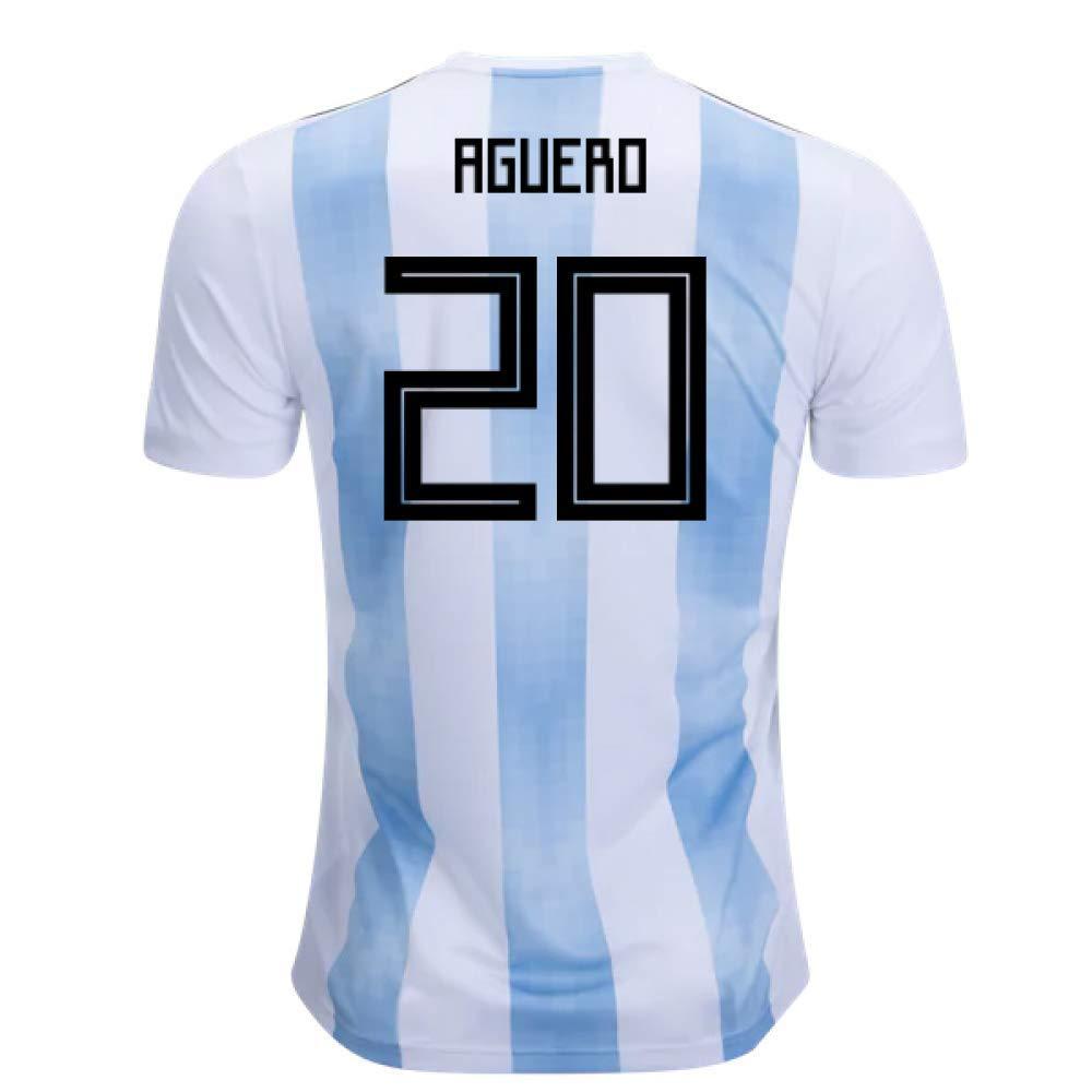 2018-19 Argentina Home Football Soccer T-Shirt Trikot (Sergio Agüero 20)