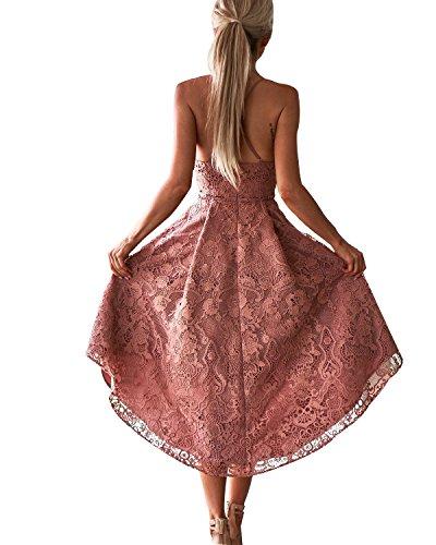 Abyoxi Básico Rosa Mujer Para Vestido qg1FqBxp
