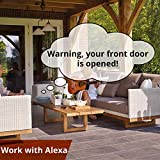 Smart Door Sensors 2 Pack, 1/4 Mile World's Longest Range Wireless Window Door Sensor Work with Alexa IFTTT, Smartphone Monitor APP Alerts Open Reminder Sensor Without Audio Alarm, YoLink Hub Included