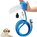 Alisaouse Pet Bathing Tool, Dog Shower 2 in 1 Functional Pet Tool Sprayer and Scrubber Indoor/Outdoor Use