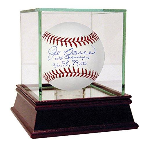 Jeter Derek Ball - Joe Torre Signed MLB Baseball w/WS Champs 96 98 99 00 Insc