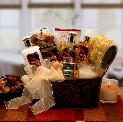 Caramel & Creme Bliss Spa Gift Basket by Gift Basket Dropshipping