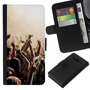 JackGot ( Partito di musica Punk ) Samsung Galaxy Core Prime la tarjeta de Crédito Slots PU Funda de cuero Monedero caso cubierta de piel