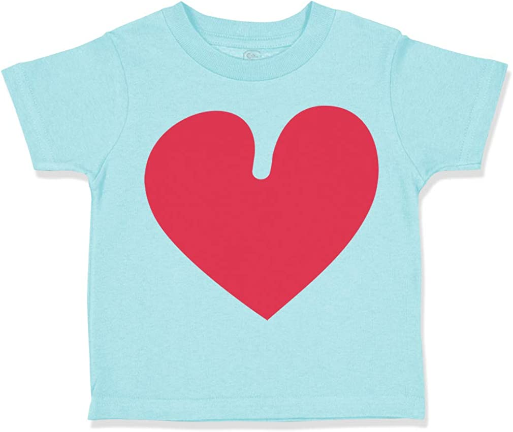 Custom Toddler T-Shirt Rose Heart Valentines Day Cotton Boy /& Girl Clothes