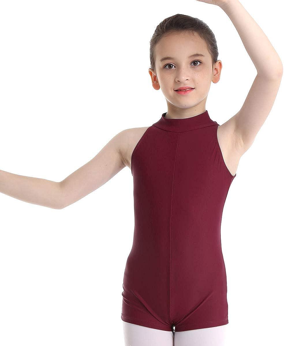 Alvivi Enfant Fille Gymnastique Gym Justaucorps sans Manches Danse Body de Ballet L/éotard Justaucorps pour Pratique Yoga Costume 3-12 Ans