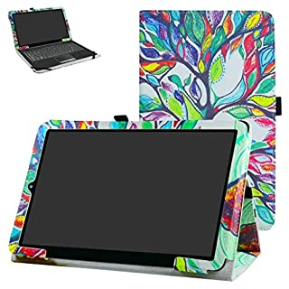 "RCA 11 Galileo Pro RCT6513W87DK Case,Mama Mouth PU Leather Folio 2-Folding Stand Cover with Stylus Holder for 11.5"" RCA 11 Galileo Pro RCT6513W87DK Tablet,Love Tree"