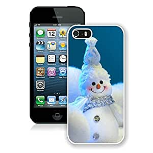 Custom Design Happy little snowmen Iphone 5S Protective Cover Case Christmas Snowman iPhone 5 5S TPU Case 1 White by Maris's Diary