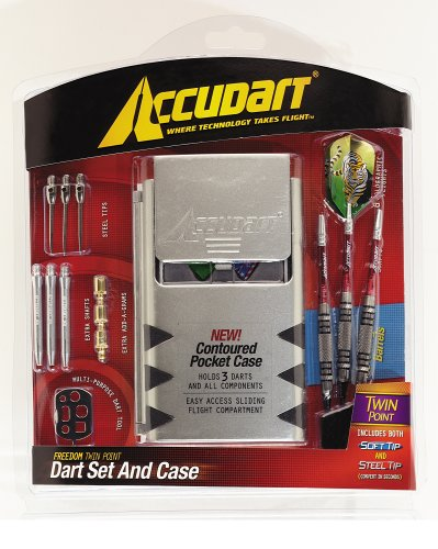 Accudart Freedom Twin Point 80% Tungsten Dart Set and Case by Accudart